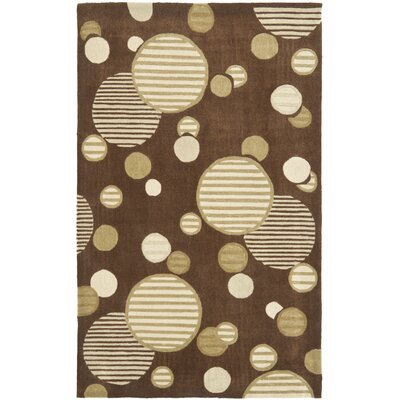 Charlize Hand-Tufted Brown Area Rug Rug Size: Rectangle 5 x 8