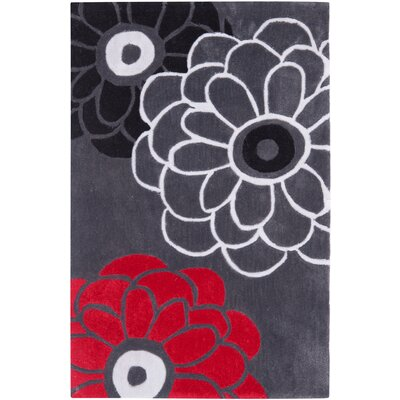 Art Hand-Tufted Dark Gray Area Rug Rug Size: Rectangle 26 x 4