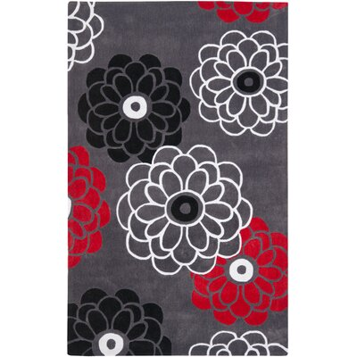 Modern Art Dark Grey/Multi Rug Rug Size: 4 x 6
