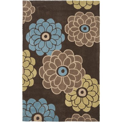 Modern Art Brown/Multi Rug Rug Size: 4 x 6
