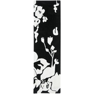 Modern Art Black/Ivory Rug Rug Size: Rectangle 5 x 8