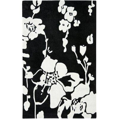 Modern Art Black/Ivory Rug Rug Size: Square 5