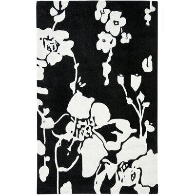Modern Art Black/Ivory Rug Rug Size: 4 x 6