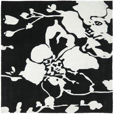 Modern Art Black/Ivory Rug Rug Size: Square 7
