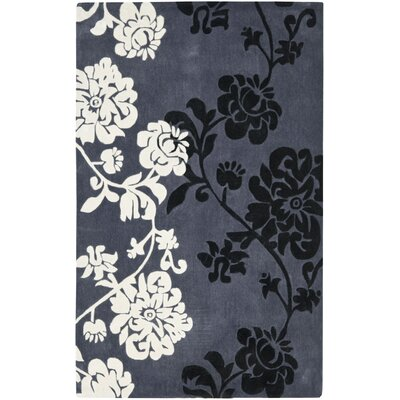 Modern Art Dark Grey/Multi Rug Rug Size: 8 x 10