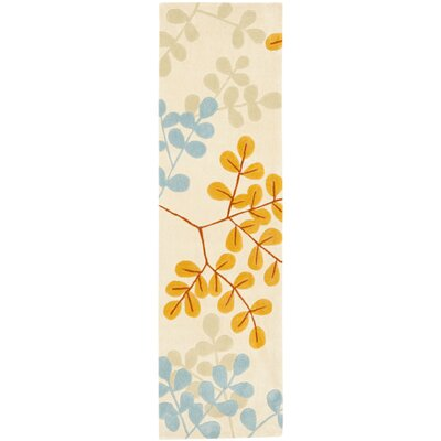Modern Art Ivory/Multi Rug Rug Size: Rectangle 4 x 6