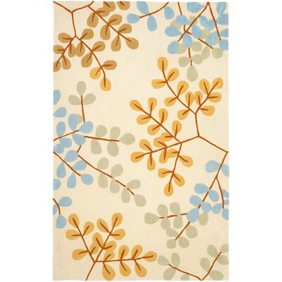 Modern Art Ivory/Multi Rug Rug Size: Rectangle 26 x 4