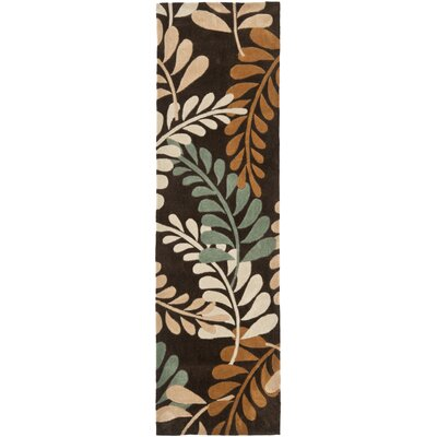 Modern Art Brown/Multi Rug Rug Size: Runner 23 x 8