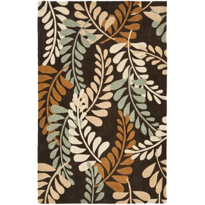 Modern Art Brown/Multi Rug Rug Size: Rectangle 5 x 8