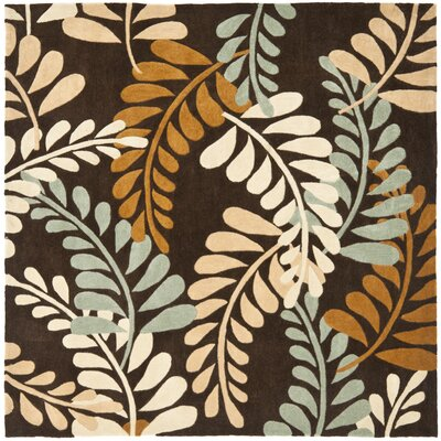 Modern Art Brown/Multi Rug Rug Size: Square 7