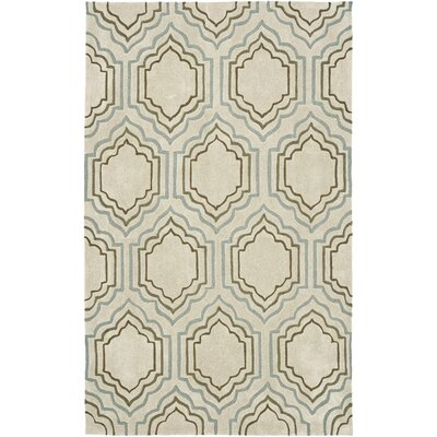 Modern Art Beige Area Rug Rug Size: Rectangle 4 x 6