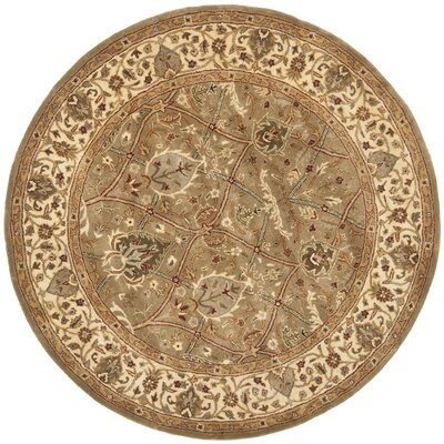 Empress Tufted Wool Area Rug Rug Size: Round 8