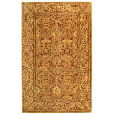 Empress Hand Tufted Wool Moss/Beige Area Rug Rug Size: Rectangle 5 x 8