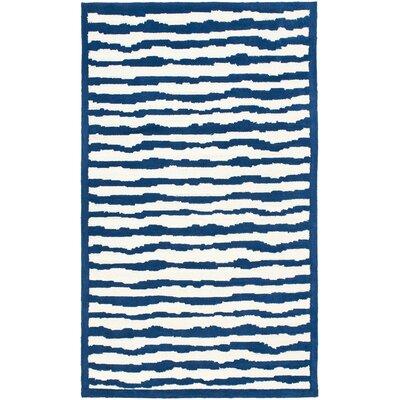 Claro Ivory/Blue Area Rug Rug Size: 5 x 8