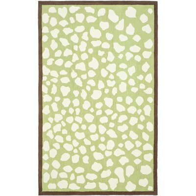 Claro Green & Ivory Area Rug Rug Size: Rectangle 8 x 10
