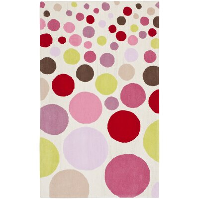 Kids Hand-Tufted Pink Area Rug Rug Size: Square 6 x 6