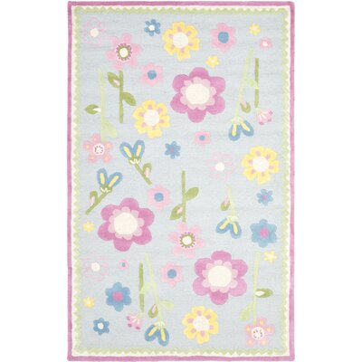 Claro Tufted Blue / Multi Rug Size: 2 x 3