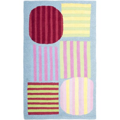 Claro Handmade Blue / Multi Rug Size: Rectangle 3 x 5