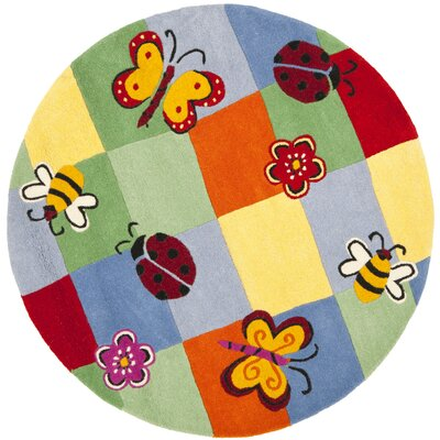 Claro Plaid Multi Rug Size: Round 4