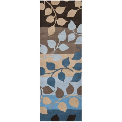 Soho Brown / Blue Rug Rug Size: Runner 26 x 8