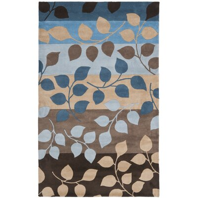 Soho Brown / Blue Rug Rug Size: 5 x 8