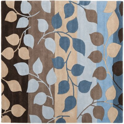 Soho Brown / Blue Rug Rug Size: Square 6