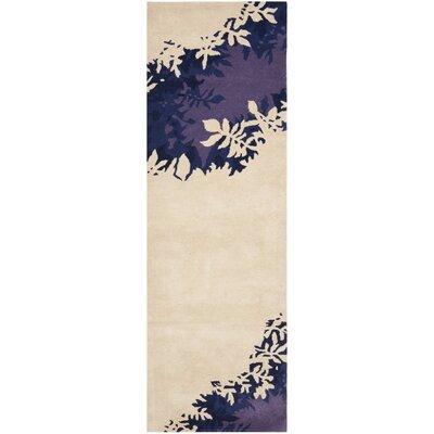 Soho Beige / Purple Rug Rug Size: Runner 26 x 8