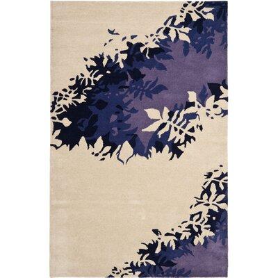 Soho Beige / Purple Rug Rug Size: 36 x 56