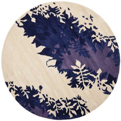 Soho Beige / Purple Rug Rug Size: Round 6
