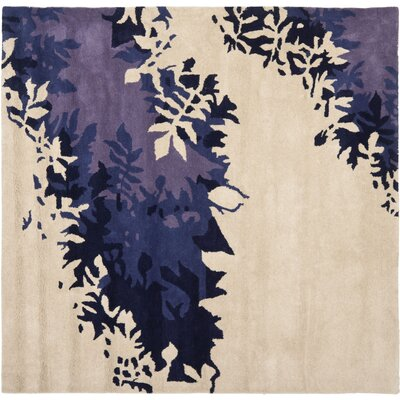 Soho Beige / Purple Rug Rug Size: Square 6