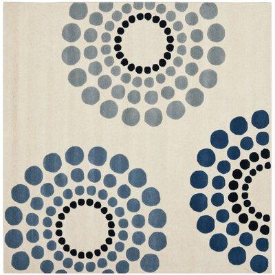 Soho Ivory / Multi Rug Rug Size: Square 6