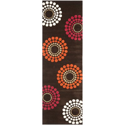 Soho Brown / Multi Rug Rug Size: Runner 26 x 8