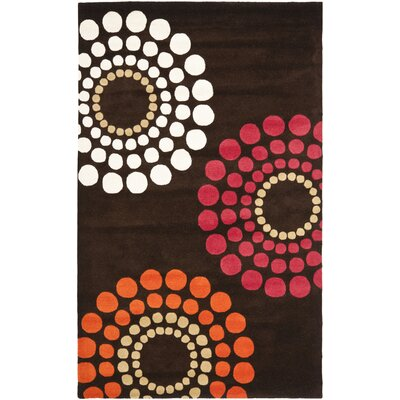 Soho Brown / Multi Rug Rug Size: 76 x 96