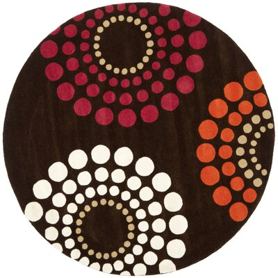Soho Brown / Multi Rug Rug Size: Round 6