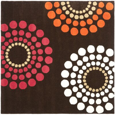 Soho Brown / Multi Rug Rug Size: Square 6