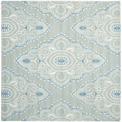 Colesberry Blue/Ivory Rug Rug Size: Square 7