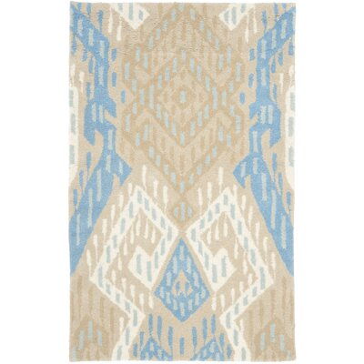 Wyndham Blue / Ivory Rug Rug Size: Rectangle 5 x 8