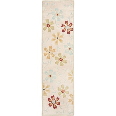 Blossom Floral Design Beige / Multi Contemporary Rug Rug Size: Runner 23 x 8