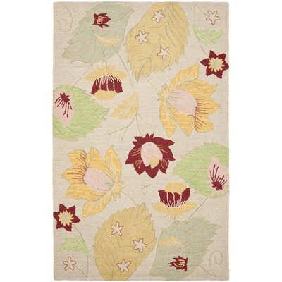Blossom Wool Ivory / Multi Contemporary Rug Rug Size: Rectangle 5 x 8