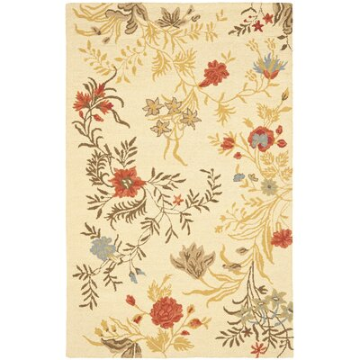Blossom Flower Beige / Multi Contemporary Rug Rug Size: Scatter / Novelty Shape 2 x 3