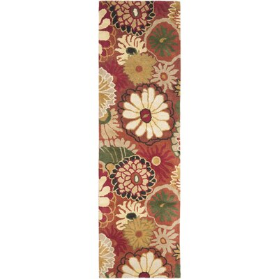 Jardin Rust / Multi Contemporary Rug Rug Size: Runner 23 x 8