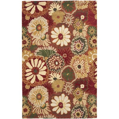 Jardin Rust / Multi Contemporary Rug Rug Size: Rectangle 5 x 8