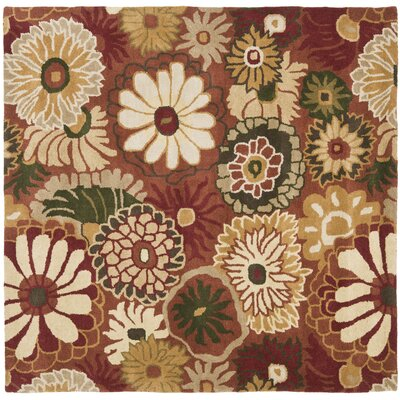 Jardin Rust / Multi Contemporary Rug Rug Size: Square 6