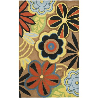Soho Floral Brown / Multi Contemporary Rug Rug Size: 5 x 8