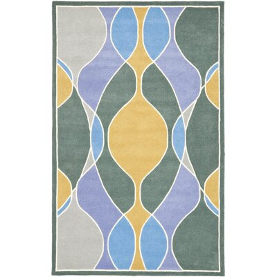 Soho Dark Multi Contemporary Rug Rug Size: 5 x 8