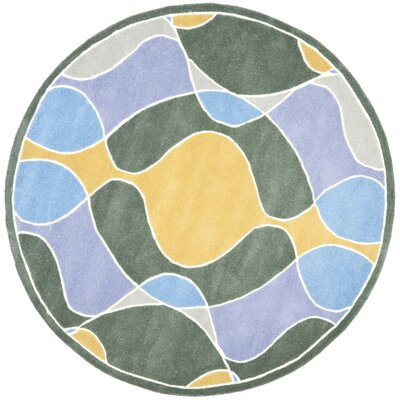 Soho Dark Multi Contemporary Rug Rug Size: Round 6