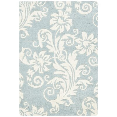 Soho Dark Blue / Ivory Contemporary Rug Rug Size: Scatter / Novelty Shape 2 x 3