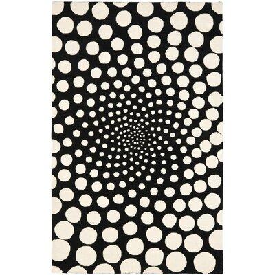Soho Black / Ivory Contemporary Rug