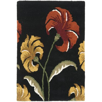 Soho Light Black / Multi Contemporary Rug Rug Size: Rectangle 2 x 3