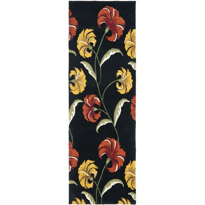 Soho Light Black / Multi Contemporary Rug Rug Size: Runner 26 x 8